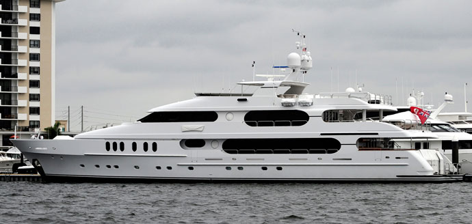 Tiger Woods' yacht, named Privacy, is 155 feet long and was purchased for a reported $20 million.