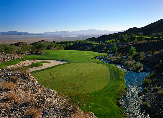 6. Cascata, Boulder City, Nev.; golfcascata.com; $245-$425                           For this kind of price tag, you would surely expect waterfalls on the practice range, bighorn sheep on the first hole and a river that runs through the clubhouse. At Cascata, a Caesars Entertainment property, you get all that and more. This 2001 Rees Jones design 30 minutes south of the Vegas Strip is a high desert links with firm, fast fairways that burrow through stark, brown rock-encrusted hills.