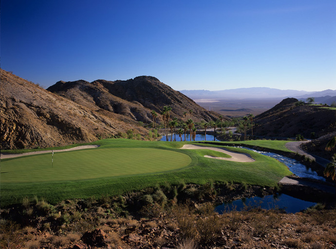 Cascata, $395: At this Rees Jones design just outside Vegas, water is pumped up a mountain in the morning, and it meanders through the course -- and rushes through the clubhouse. Presumably, your fees go toward the water bill.