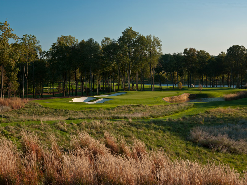 Caves Valley (No. 82 U.S.): On the rebound is this 20-year-old Tom Fazio creation in Maryland hunt country north of Baltimore that's best known as the 2002 U.S. Senior Open venue. Long regarded as one of the great retreats in golf, Caves Valley now has a course to match, thanks to design tweaks that improved visability at the 2nd, 8th and 11th holes, making for more enticing strategic decisions. Untouched are modern classics such as the par-4 9th, an uphill beauty that transitions from meadow to forest, its right side guarded by a creek, and the two par 3s on the back, both drenched in water, wetlands and drama.