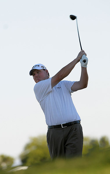 Second Round of the Justin Timberlake Shriners Hospital Chad Campbell shot a bogey-free, nine-under 62 to grab a share of the lead Friday.