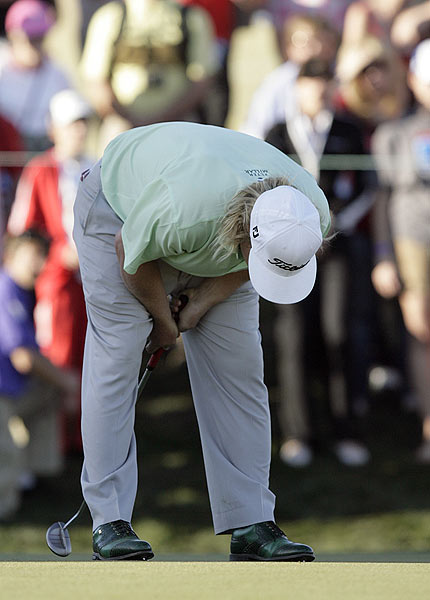 Hoffman missed a birdie putt on the second playoff hole that would have given him the win.