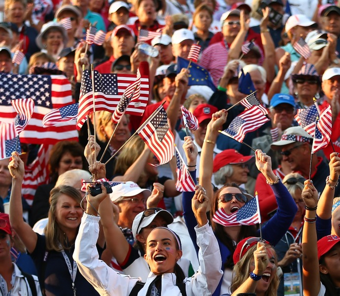 American fans showed up in full force to cheer the Solheim Cup team.