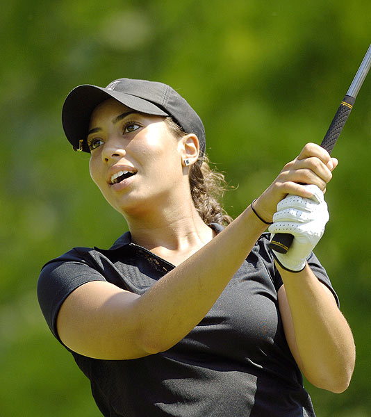 Tiger Woods's niece Cheyenne Woods made her LPGA debut on Thursday at the Wegmans LPGA Championship with a sponsor's exemption.