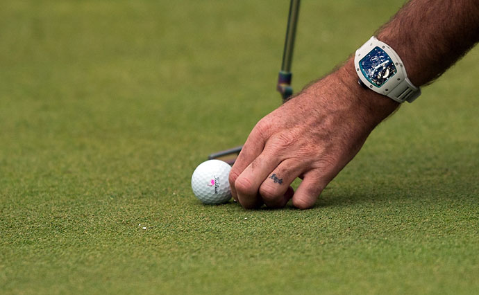Bubba Watson has his wife Angie's name tattooed on his ring finger.