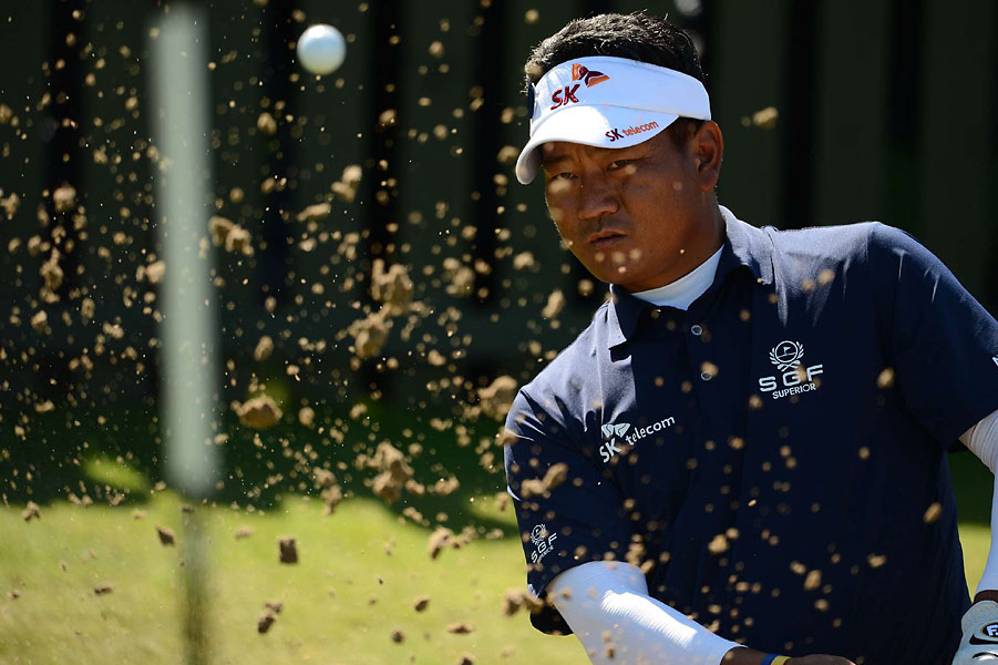 K.J. Choi during a practice round on Wednesday.