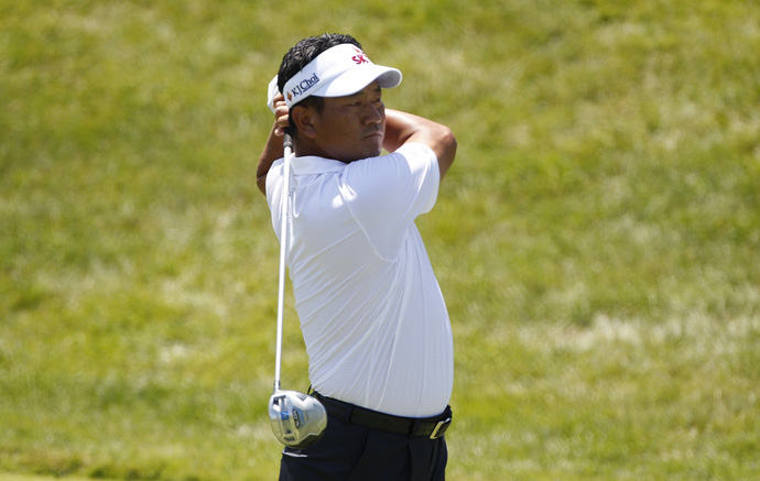 K.J. Choi made three birdies and a double bogey for a 70.
