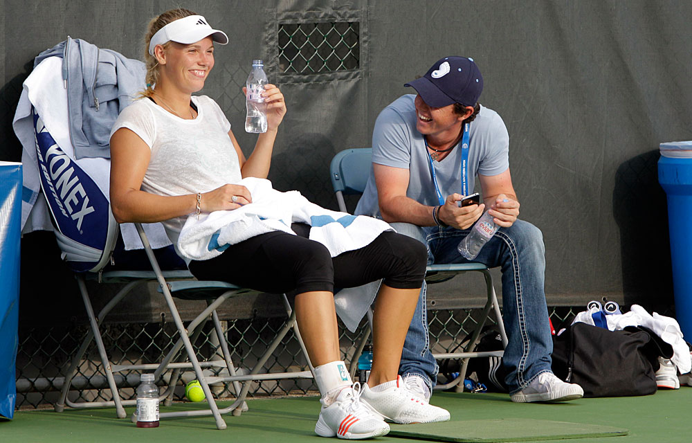 Aug. 14, 2011: McIlroy visited Wozniacki before the Western and Southern Open in Mason, Ohio.