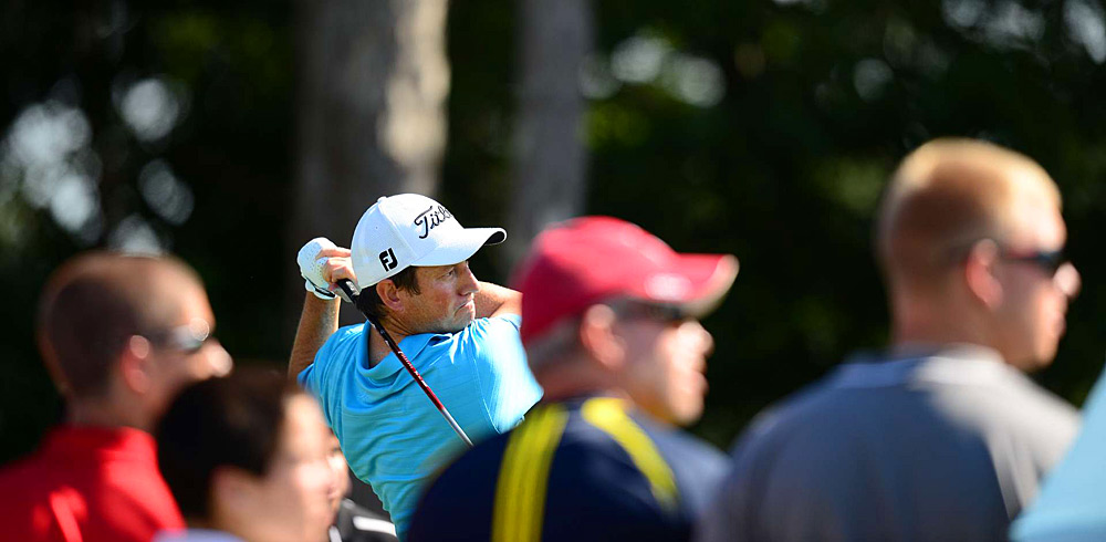 Tim Clark made three bogeys on the back nine to tie for 10th.