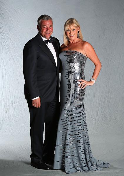 Darren Clarke and his wife, Alison.