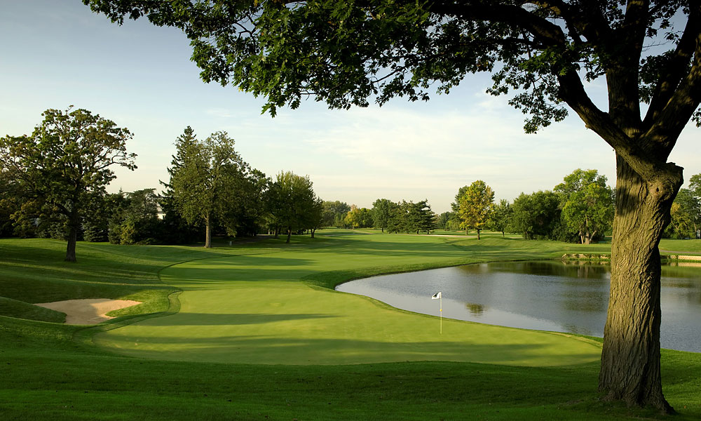 "6. Cog Hill Golf Club, Lemont, IL; 866-264-4455, coghillgolf.com                       Chicago's Cook County is home to several hundred courses you can play, but top among them is the long, boldly-bunkered No. 4 at Cog Hill. The brainchild of public course maven Joe Jemsek, Cog Hill played host to the Western Open for roughly 20 years, beginning in 1991 and to the 1997 U.S. Amateur, won by Matt Kuchar. Tiger Woods once gushed, ""I love this golf course. The holes fit my eye."" However, in an effort to restore the bark and bite to the Dick Wilson/Joe Lee layout nicknamed ""Dubsdread,"" Rees Jones reworked the course, deepening the bunkers and re-contouring the greens. Our Top 100 panelists gave two thumbs up, though many pros balked. Still, in one of the greatest sports towns in the U.S. Cog Hill (No. 4) remains the place to play."