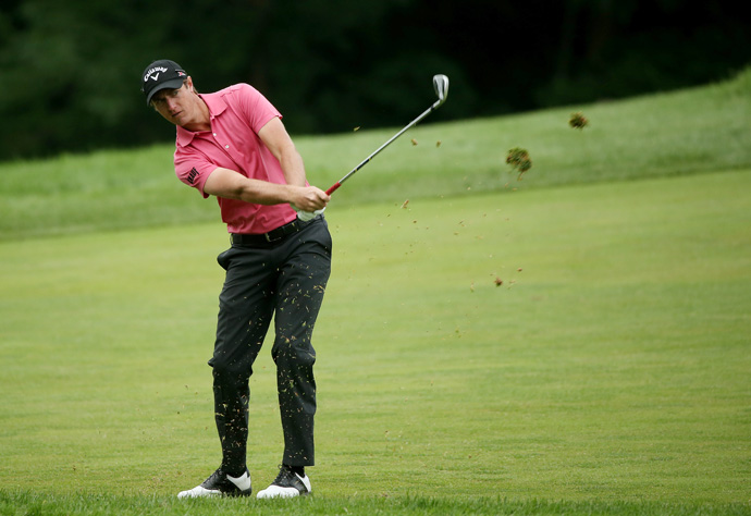 Nicolas Colsaerts made four birdies and three bogeys for a one-under 69.
