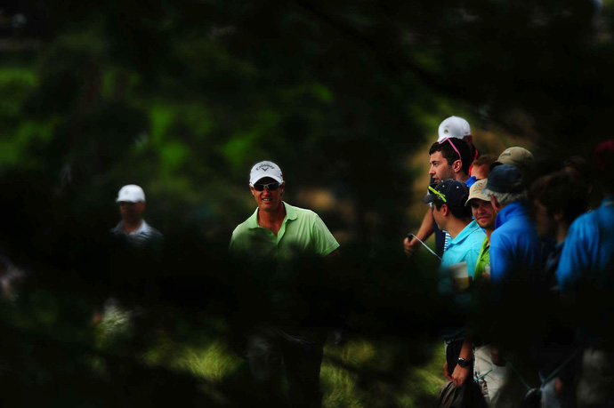 Nicolas Colsaerts is tied for eighth at one over par.