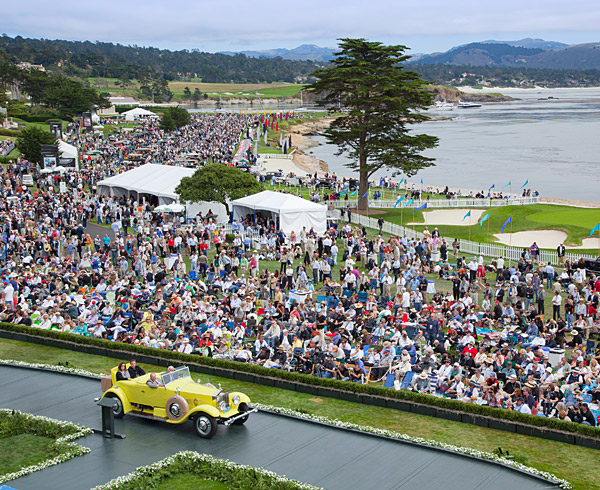 Since 1950, the Pebble Beach Concours d'Elegance has brought beautiful and rare automobiles to the famed 18th fairway of Pebble Beach Golf Links for a world-class collectors' auto show.