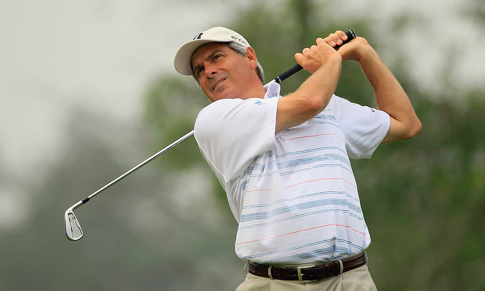 Fred Couples finished the first round at five under and but was one over in round 2.