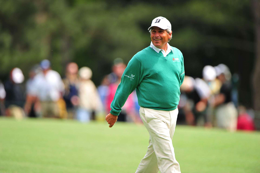 Fred Couples, 52, shot a five-under 67 to grab a share of the lead.