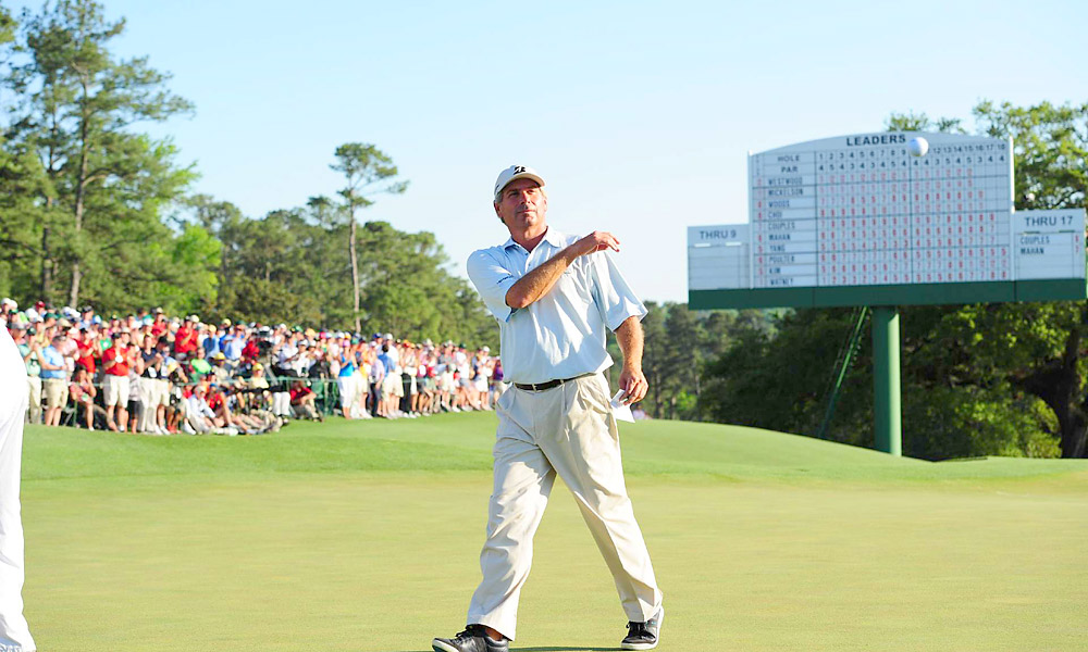 At the 2010 Masters, 50-year-old Couples fired an opening-round 66 to take the lead overnight, causing many to wonder whether he would take home his second green jacket that week. He eventually finished sixth.