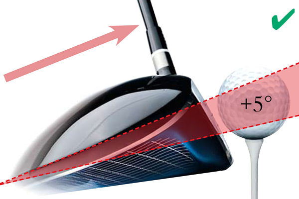 Ascending Hit                                              Our TrackMan research shows decisively that if you hit the ball on the upswing, you'll hit longer drives with less spin — without any increase in your swing speed. This ascending path creates the optimal launch angle and spin for all swing speeds because it increases club-to-ball energy transfer.