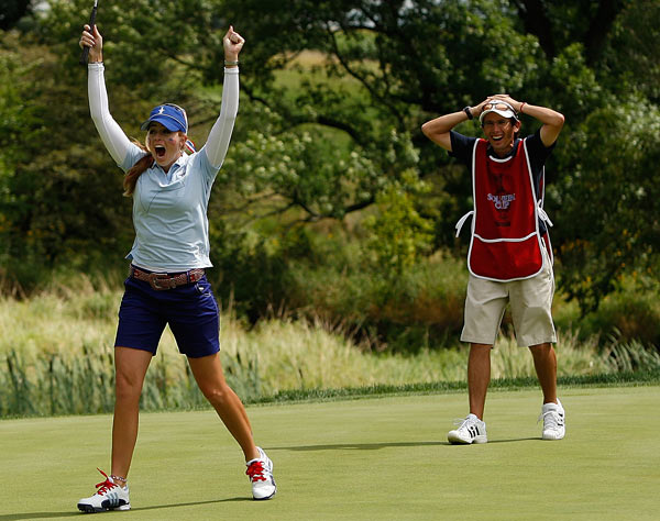 The U.S. took control when Creamer made a long birdie putt on the 16th.