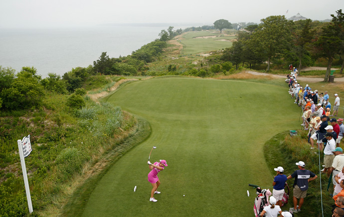 Paula Creamer made two bogeys and a birdie for a 73.