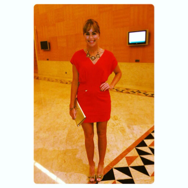 @ThePCreamer: Last night at the pro-am party...#reddress #socktan #golferproblems #ohwell