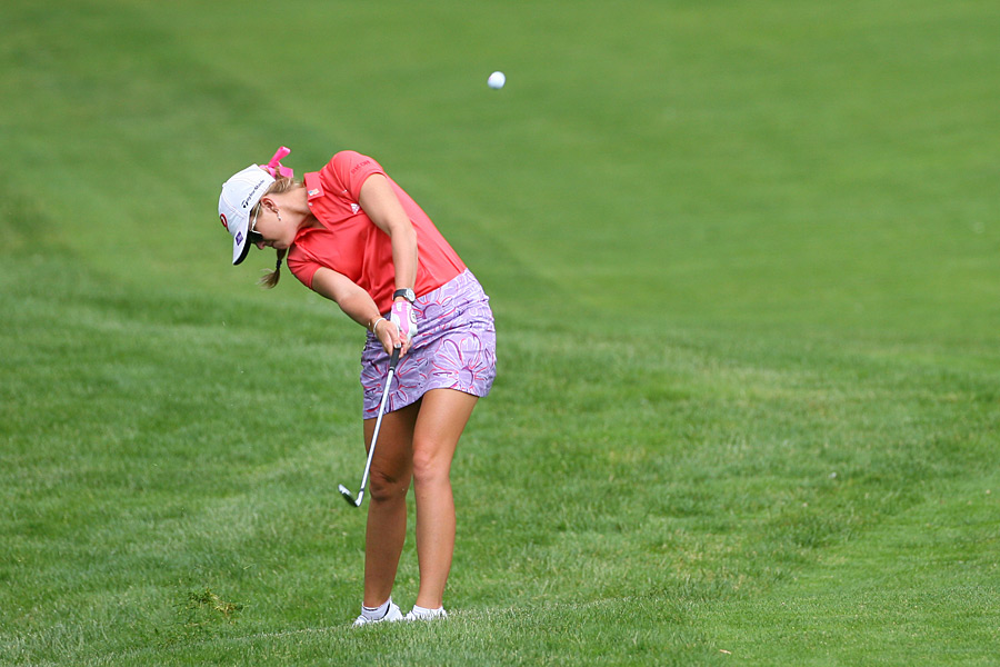 Paula Creamer bogeyed two of the last three holes to finish three shots back.