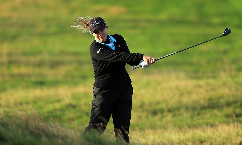 """Some players began play in the morning, including Cristie Kerr. The scores they recorded before play was called off were declared """"null and void"""" and wiped out."""