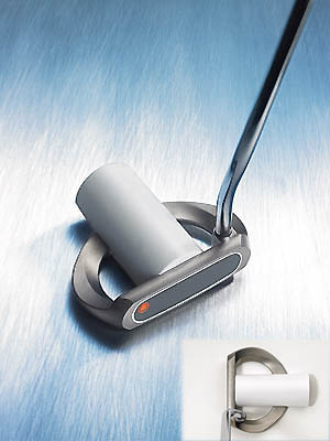 "Nickent Pipe PP-02                           $199                                                      The company line ""Innovative cylinder pipe on the top of the head provides a 3-D visual readout of exactly where the putter is lined up.""                                                      Our testers say Despite awarding the Pipe respectable feel and control ratings, our panel couldn't come to grips with the putter's unconventional and ""distracting"" design. ""It looked like they slapped a piece of PVC pipe to the top of the mallet,"" said Keith Borgfeldt (handicap 18). Hoai Hoang (8) compared it to ""a putter that my uncle could have made in his basement."" Still, the design ""flat out works"" and ""leads to superb distance control,"" Hoang said. Others felt the white pipe was a useful alignment tool. ""It pointed the way very effectively,"" said Kirk Fischer (7). Roger Liau (17) praised the putter's solid feel. ""Every putt,"" he said, ""felt like I nailed it dead-center.""                                                      Additional Comments:                                                      ""It's head-heavy, which makes it so easy to swing.""                           - Jim Perzan (9)                                                      ""A clunky feel when not struck square in front of the pipe.""                           - Mark Waldheim (12)                                                      ""Center contact got dependable results.""                           - Ken Stauffer (14)"
