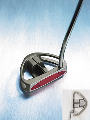 "Taylor Made Rossa Monza Corza                           $208                                                      The company line ""Several new high-performance features--including an Anti-skid Groove System insert (AGSI), moveable weight technology and a smoother, more accurate roll.""                                                      Our testers say She's a looker. ""The most handsome, sophisticated putter of the bunch,"" proclaimed Roger Liau (handicap 17). Added Jim Perzan (9), ""The black sight line was enhanced by the head's open architecture."" This stylish beauty has substance, too. ""Feedback was precise and immediate,"" said Doug Lair (10). ""No mistaking off-center hits--they make a higher-pitched 'tink' than those nailed dead-on."" Gary Wilson (13) said, ""Directional control was first-class. The club swung effortlessly."" yet, the benefit of the AGSI face insert wasn't apparent to all. ""Putts appeared to roll no differently,"" said Gerald Holtzman (0).                                                      Additional Comments:                                                      ""Looks like a Ferrari, performs like a Honda.""                           - Victor DeMarco (12)                                                      ""Long alignment line makes it easy to aim.""                           - Pete Stonestreet (12)                                                      ""Stable head delivers just enough feedback on contact.""                           - Ken Stauffer (14)"