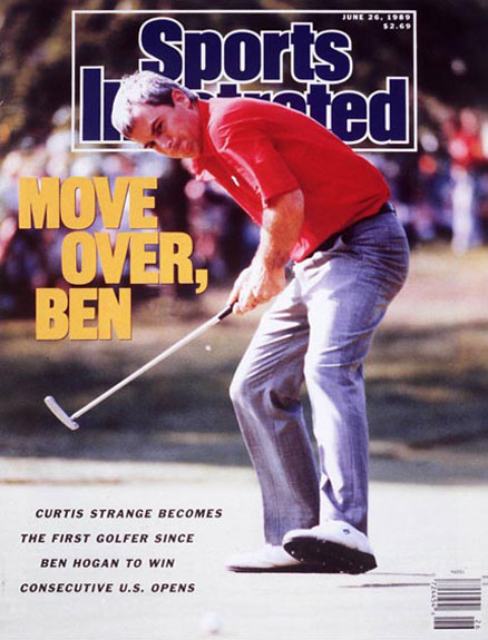 Curtis Strange wins the 1989 U.S. Open at Oak Hill, June 26, 1989