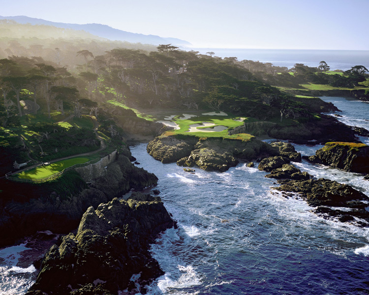 Cypress Point Club -- No. 15, 143 yards -- Pebble Beach, Calif.                       It's a setting as stunning as a national park; it just happens to have a golf hole built on it. Alister MacKenzie has brought you through the pines and around coastal dunes, and now, as his masterwork builds to a crescendo, he gives you this: your first arresting close-up with the sea. Simply unforgettable. And almost as good as the hole that follows it.