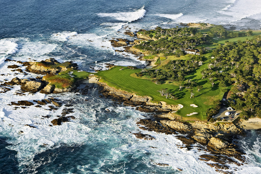 Cypress Point Club -- Pebble Beach, Calif. -- No. 16: Par 3, 231 yards                           Actually, I would include the entire triumvirate of 15, 16 and 17, because they're each ridiculously beautiful, but the big enchilada is Alister MacKenzie's greatest par 3 and a half.
