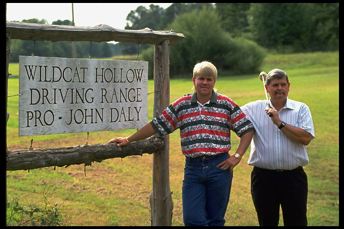 John Daly and his father