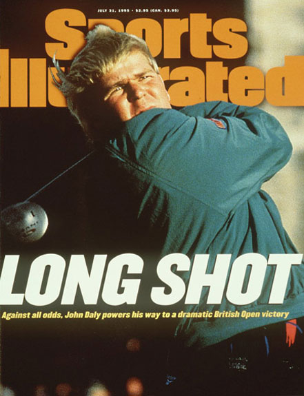 John Daly wins the 1995 British Open at St. Andrews.