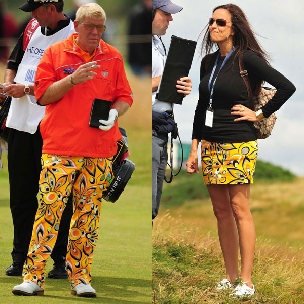 John Daly's girlfriend was on the course again Saturday showing her support in a coordinating outfit.