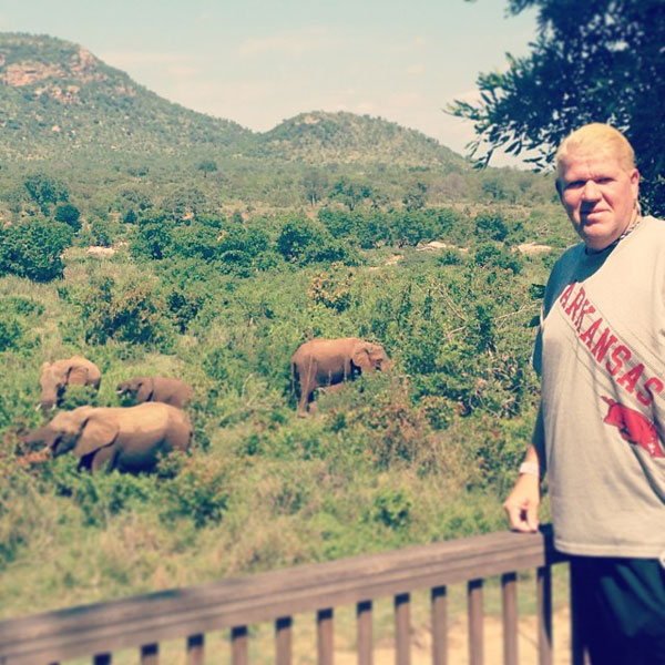 @PGA_JohnDaly: Good Morning from Leopard Creek, South Africa  #elephants #stillwaitingforthelions #DunhillTournament