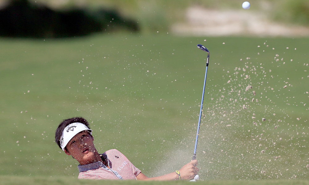 Danny Lee, who won the U.S. Amateur in 2008, was tied a group of players at five under.