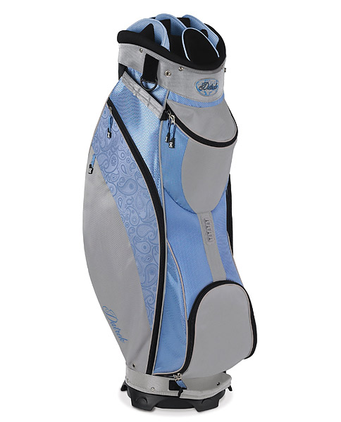 Datrek D-Light Cart Bag, $160; datrek.com                           Weighing in at only 4.5 pounds, the D-Light's notable features include a 14-way top with full-length individual dividers, an integrated velour-lined putter well, a glove and umbrella holder, and six pockets, including an insulated cooler pocket and a fleece-lined valuables pocket.