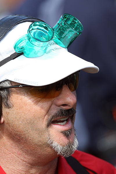 Northern Ireland's David Feherty showed his St. Patrick Day spirit on Tuesday while announcing for the Golf Channel.