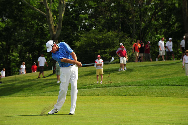 Davis Love III triple bogeyed the final hole to shoot 73.