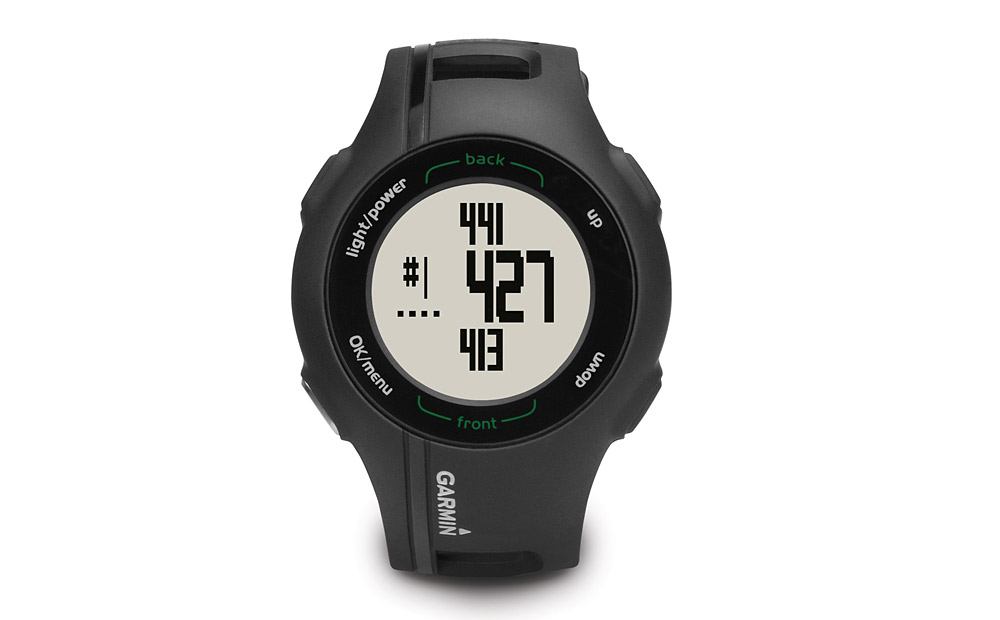 Garmin Approach S1 Golf GPS Watch                       Garmin's smallest, most convenient GPS unit may not be as stylish as a Movado, but it will give you distances to the front, center and back of more than 17,500 courses. Oh, and it tells time too.  If you order it by 11 a.m. on December 22nd from Best Buy (with expedited shipping), you'll get it by the 24th.