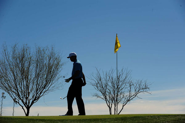SI's Robert Beck took this picture of Tiger Woods during the WGC - Accenture Match Play.