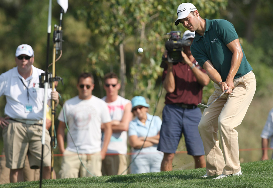 Martin Kaymer matched Westwood's score on day one.