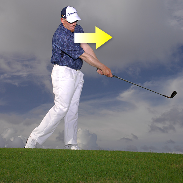 Follow the flight of the ball with your chest.