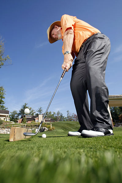 9. Dave Pelz's Short-Game Advice                       On short shots around the green, should I pitch with                       more loft or chip with less loft? Which is the right                       choice?                                              Dave says: It varies, but there's a way to check for                       your game. Hit 10 balls with each loft from several                       different spots around a practice green. Notice                       which loft leaves you with the most short putts. After                       several sessions you'll begin to feel which club and                       loft you have more confidence in. That's the best                       shot for you.                                              • The Dave Pelz Vault