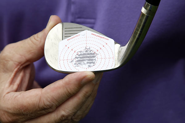 If you've practiced the drill correctly, you should find a consistent impact pattern centered on the sweet spot.This will give you the full distance potential of your club.