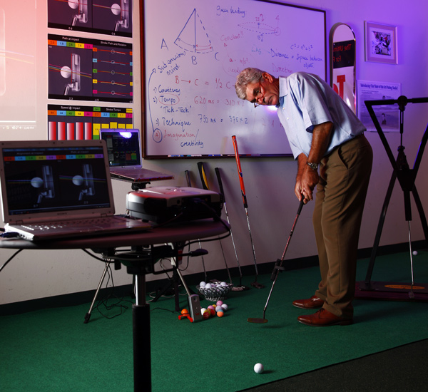 The Putting Professor: The high-tech teaching of Marius Filmalter, 53,                       helps hackers and pros make more putts