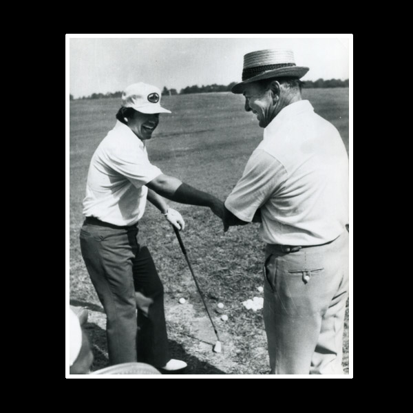 "One of my favorite people: Sam Snead. People don't realize how good he was, as good as Tiger. There's no telling what he'd have won if the putter had stayed with him. Sam was a hell of an athlete. When he was 75 he could kick a light out of an eight-foot ceiling. No joke. He always came around, ""How you hittin' it, boy?"" ""I'm hitting it good, Sam."" [Laughs.]"