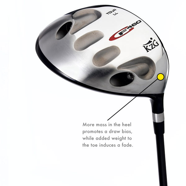 KZG GF 460                           It's for: All players                           KZG is a boutique custom-fitting firm that sells only its                           own club designs through a team of certified fitters. The                           GF 460, the company's entry in the moveable-weight                           genre, has two recessed chambers for weight plugs.                           The plugs come in 11/2, 4, 5, 6, 8, 10 and 12 grams. KZG                           recommends that one of its professional fitters                           determine the proper weight placement to optimize                           your club for launch, ball flight and overall performance.                           $409, steel; $439, graphite; kzgolf.com