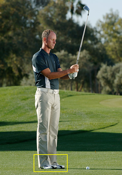"6 Quick Steps to a Perfect Address                            Use this checklist to set up for more consistent ballstriking                           By Scott Sackett                           This story is for you if...                                                      • Your poor shots are either fat or thin                            • You just never get in a consistent groove                           • You blame bad shots on your swing without considering your address position                                                      THE PROBLEM The quality of your ballstriking is inconsistent, with a tendency to hit your irons fat or thin.                                                      THE SOLUTION As Jack Nicklaus once said, ""If you set up correctly, there's a good chance you'll hit a reasonable shot, even if you make a mediocre swing. If you set up to the ball poorly, you'll hit a lousy shot even if you make the greatest swing in the world.""                                                      If it's a struggle for you to be consistent, follow this six-point checklist to get your address position perfect for solid shots.                                                      1. Step up to the ball with your feet together and your club in the air in front of you."